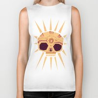 sugar skull Biker Tanks featuring sugar skull by Yetiland