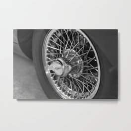 Jaguar E-Type wheel Metal Print