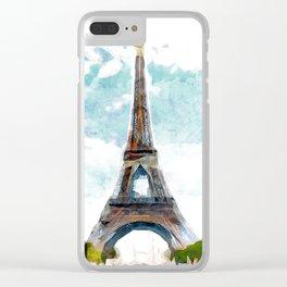 Paris Tour Eiffel Clear iPhone Case