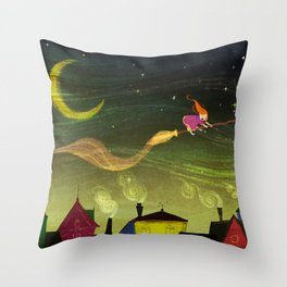The Little Witch Throw Pillow