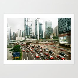 Hong Kong Traffic Art Print