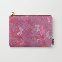 I Love Cats and Butterflies Carry-All Pouch