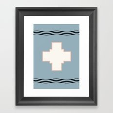 Cross tribal wave Framed Art Print