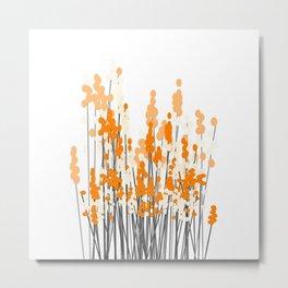 Orange Spring Bouquet on White Background #decor #society6 #buyart Metal Print