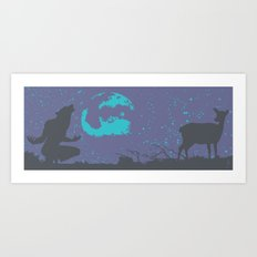 The Werewolf of Saddle Creek Art Print