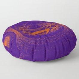 Steampunk fractal art Floor Pillow