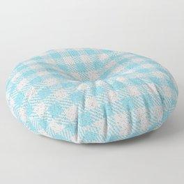 Light Sky Blue Buffalo Plaid Floor Pillow