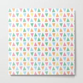 Ice-Cream Sundaes (Pastel Triangle Pattern) Metal Print
