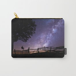 Starry sky purple effect with milky way Carry-All Pouch