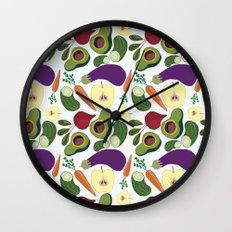 vegetables Wall Clock