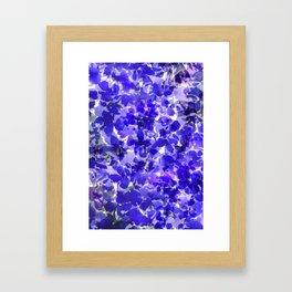 Royal Blue Delphiniums Framed Art Print