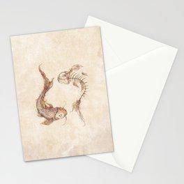 Yin Yang Fish Stationery Cards