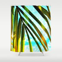 palm Shower Curtains featuring Palm by Stephanie Stonato
