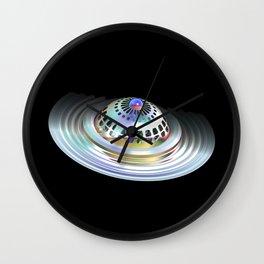 Fractal Flying Saucer Wall Clock