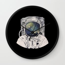 dreaming on space Wall Clock