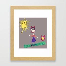 Child's Drawing #1 Framed Art Print