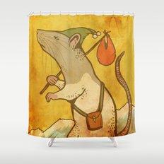 Muroidea Rat Tarot- The Fool Shower Curtain