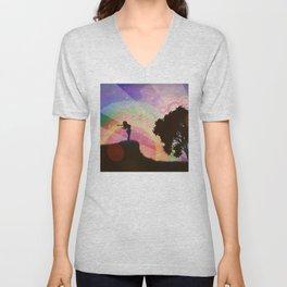 Freedom and rainbow Unisex V-Neck
