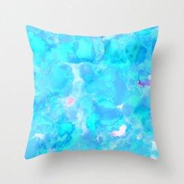 Wild And Wacky Blobby Design (Magical Cyan) Throw Pillow