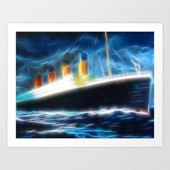 Magical Titanic Art Print
