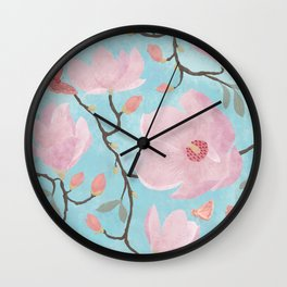 Magnolia Blossoms 2 & 3 Wall Clock