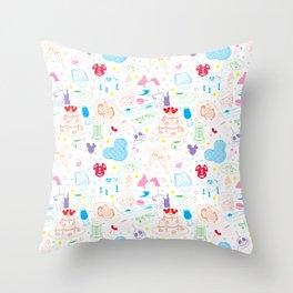 Tasting the Magic - White Throw Pillow