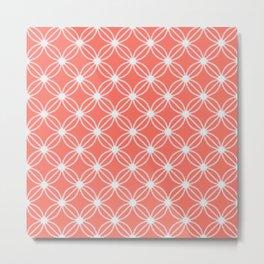 Abstract Circle Dots Peach II Metal Print