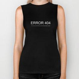 Internet 404 Error HTML CSS Funny Biker Tank