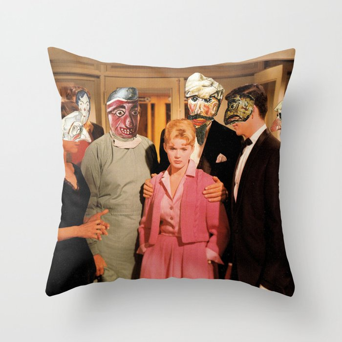 Mask Party Throw Pillow