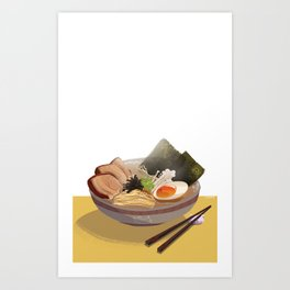 Tonkotsu Ramen Art Print