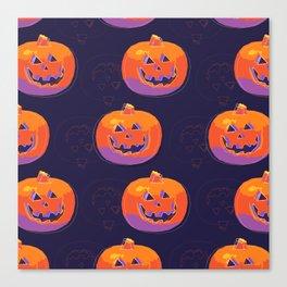 pumpkin with halloween Canvas Print