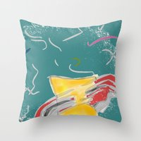 fishing Throw Pillows featuring FISHING by  ECOLARTE
