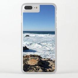 Tumultuous Ocean Clear iPhone Case