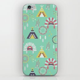 Indian Pattern Mint iPhone Skin