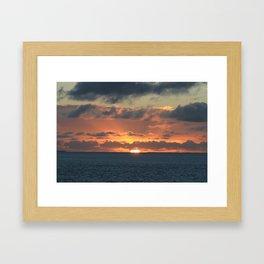 Heavenly Sunset Framed Art Print