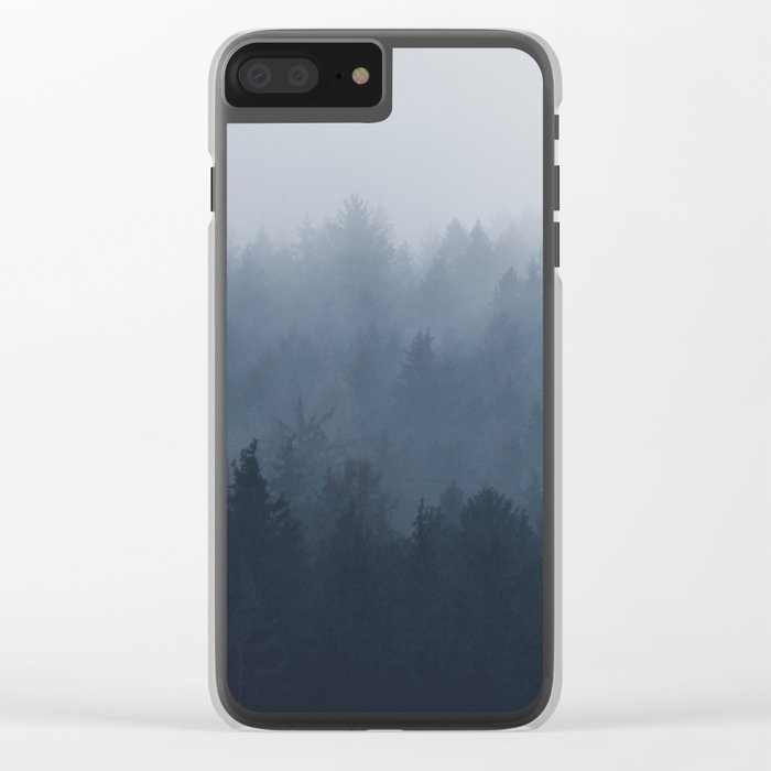 Fog in the forest Clear iPhone Case