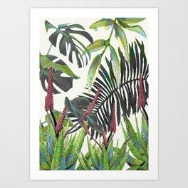 Watercolor Plants II Art Print