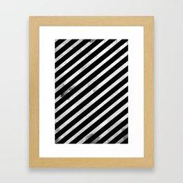 Line Chest Plate Framed Art Print
