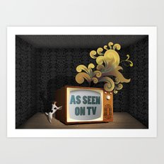 As Seen on TV Art Print