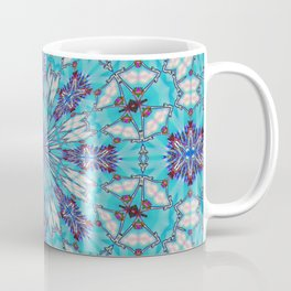 Eastern Redbud And The Bee Double Kaleidoscope Neon Coffee Mug