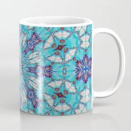 Eastern Redbud And The Bee Double Kaleidoscope Neon Coffee Mug