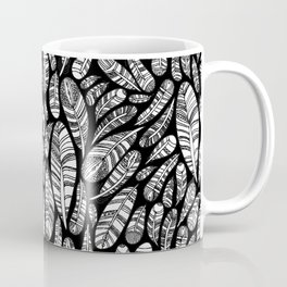 Tribal Feathers // Black Coffee Mug