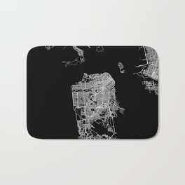 san francisco map Bath Mat