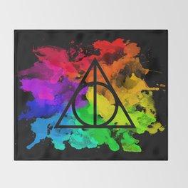 Rainbow Hallows  Throw Blanket