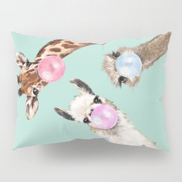 Bubble Gum Gang in Green Pillow Sham