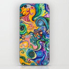 Colorful Brain Clutter iPhone Skin