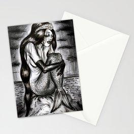 Black Mermaid Stationery Cards