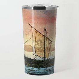 Drakkar, watercolor Travel Mug