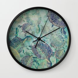 Watery Whimsy Wall Clock