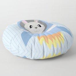 Mobil series rocket bunny Floor Pillow